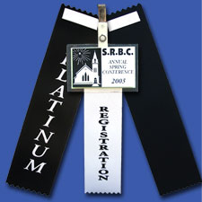 Custom Award Ribbons Double Back Tape