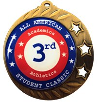 "2 3/4"" Bright Bronze Color Dome Custom Medals"