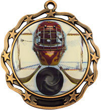 2 3/4 A Stars Bronze Color Dome Custom Medals