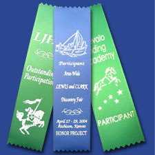 White Foil Custom Ribbons